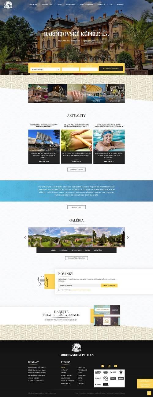 Oficiálna stránka Bardejovské Kúpele